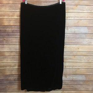 Lane Bryant Venezia Black Velvet Skirt 18/20